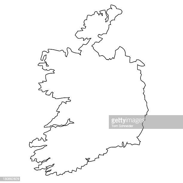 Outline, map of Ireland