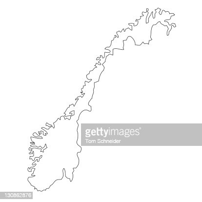 Outline Map Of Norway Stock Photo Getty Images - Norway map outline