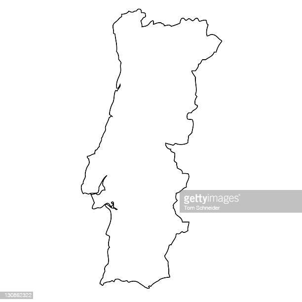 Outline, map of Portugal