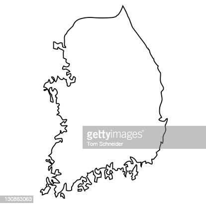 Outline Map Of Japan Stock Photo Getty Images - Japan map silhouette