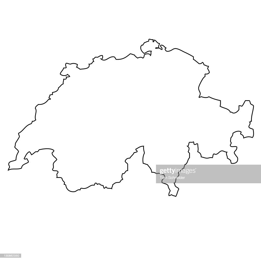 outline map of switzerland stock photo getty images