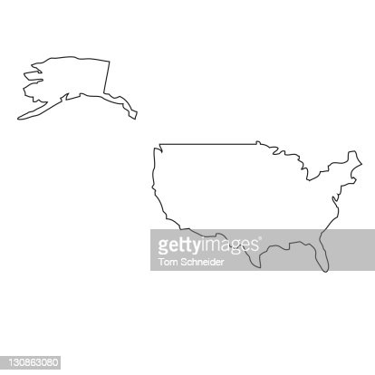 Outline, map of the USA