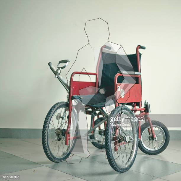 Outline of patient in wheelchair