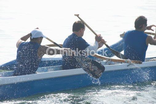 Outrigger Canoe Race : Stock Photo