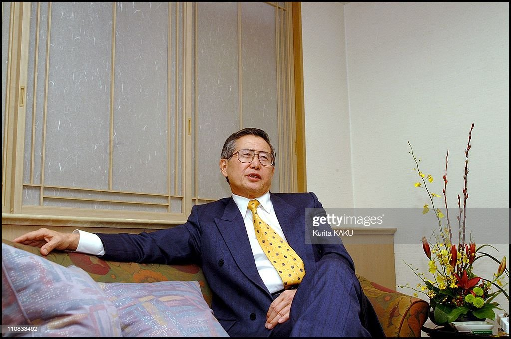 Outsed Peruvian <a gi-track='captionPersonalityLinkClicked' href=/galleries/search?phrase=Alberto+Fujimori&family=editorial&specificpeople=206244 ng-click='$event.stopPropagation()'>Alberto Fujimori</a> At New Otani Hotel In Tokyo, Japan On November 27, 2000 - .