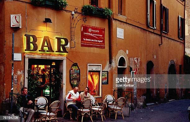 Outside bar at Trastevere, Rome, Lazio, Italy, Europe