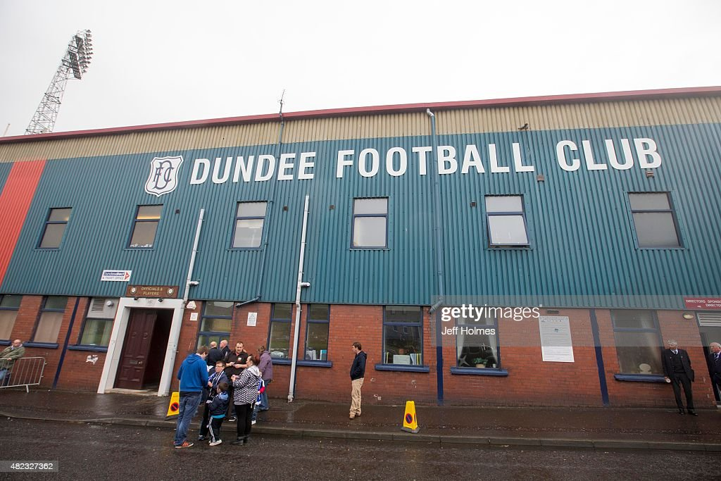 Outside the ground at the Pre Season Friendly between Dundee and Everton at Dens Park on July 28th, 2015 in Dundee, Scotland.