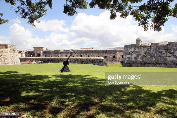 Outside the walls of Fortaleza de San Carlos de la Cabaa on June 30 in Havana Cuba Che Guevara used the fortress as a headquarters and military...
