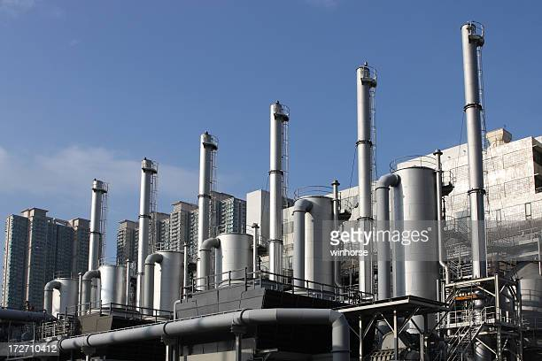 Outside view of a modern refinery plant