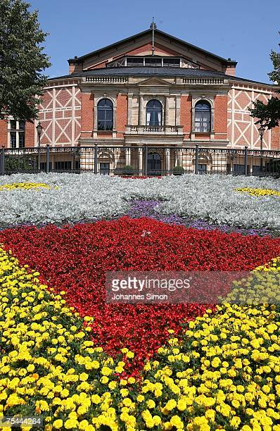 Outside view of festival hall seen prior to the rehearsal of Richard Wagner's opera 'Meistersinger' on July 17 2007 in Bayreuth Germany