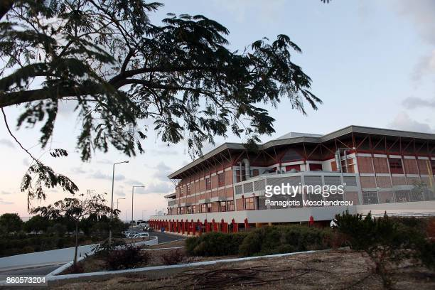 Outside view of The Arena 'Two Aorakia' which will hold the 2017/2018 Turkish Airlines EuroLeague Regular Season Round 1 game between Olympiacos...
