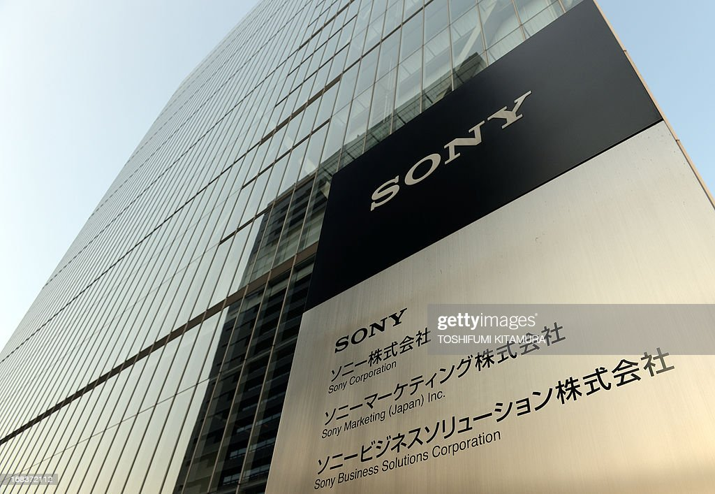 Outside view of the Sony headquarters building in Tokyo on May 9, 2013. Struggling Japanese electronics giant Sony said it booked its first annual net profit in five years, offering a glimmer of hope for the former market leader. AFP PHOTO / TOSHIFUMI KITAMURA