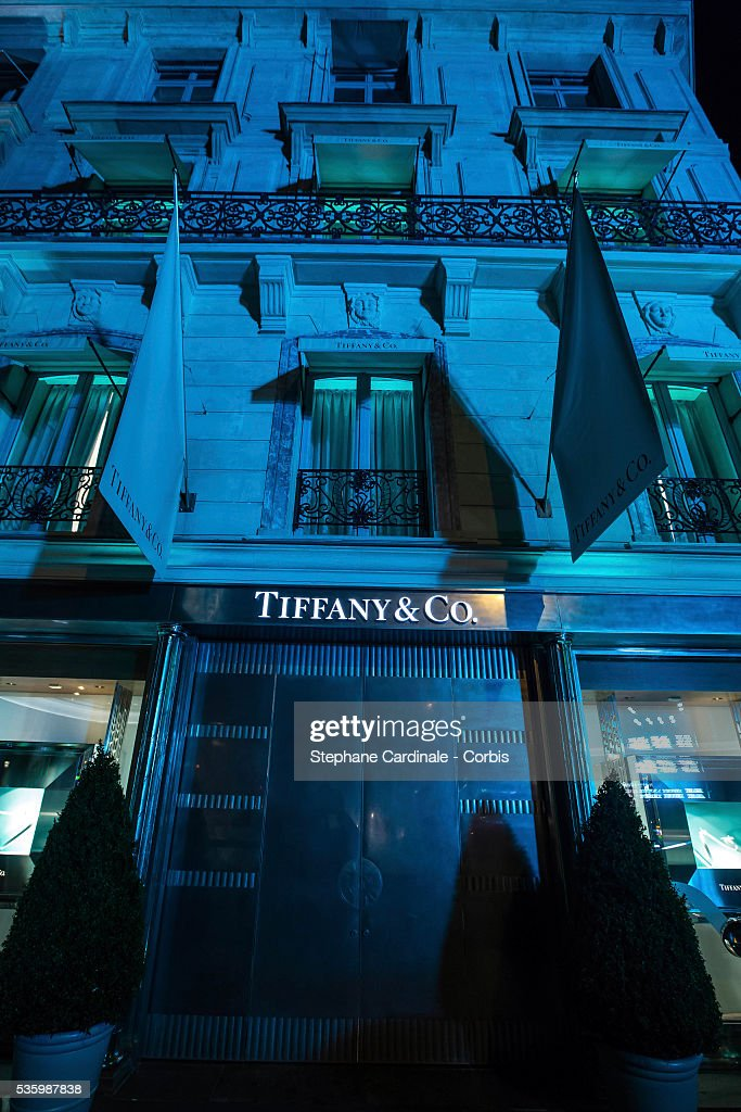 Outside View of the store during the Tiffany & Co Flagship Opening on the Champs Elysee on June 10, 2014 in Paris, France.