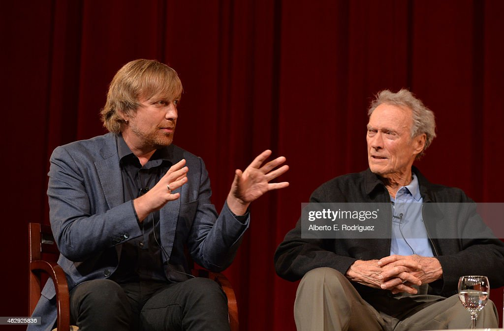 Outstanding Directorial Achievement in Feature Film nominees Morten Tyldum and Clint Eastwood speak onstage at the 67th Annual Directors Guild Of...