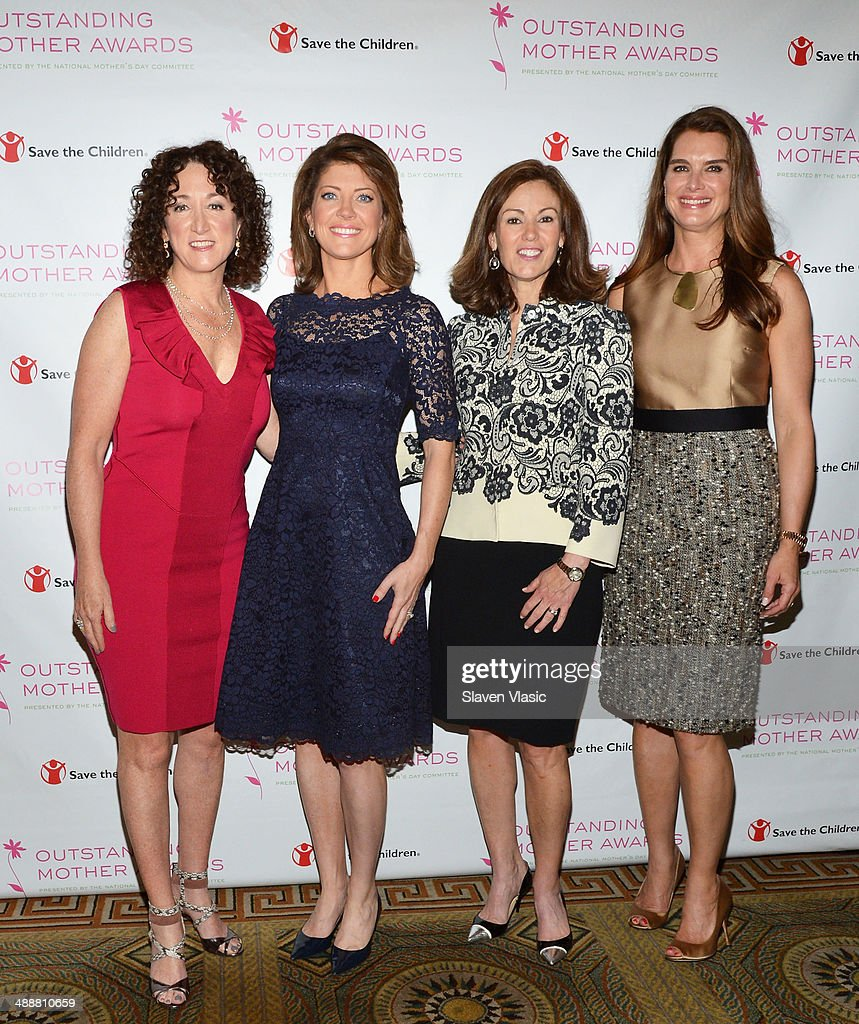 Outstanding Mother Awards 2014 honorees (L-R) Jill Granoff, CEO, Vince; CBS' 'This Morning' co-host <a gi-track='captionPersonalityLinkClicked' href=/galleries/search?phrase=Norah+O%27Donnell&family=editorial&specificpeople=5668369 ng-click='$event.stopPropagation()'>Norah O'Donnell</a>; Mary Dillon, CEO, ULTA Beauty and actress <a gi-track='captionPersonalityLinkClicked' href=/galleries/search?phrase=Brooke+Shields&family=editorial&specificpeople=202197 ng-click='$event.stopPropagation()'>Brooke Shields</a> attend the 2014 Outstanding Mothers Awards at The Pierre Hotel on May 8, 2014 in New York City.