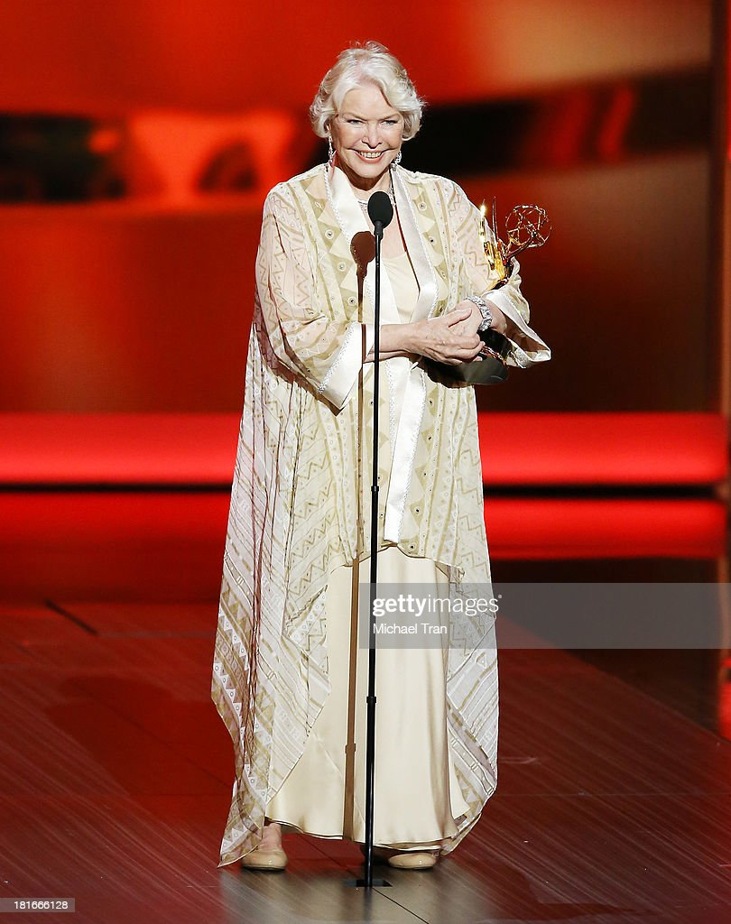 Outstanding Supporting Actress in a Miniseries or Movie winner, Ellen Burstyn speaks onstage during the 65th Annual Primetime Emmy Awards held at Nokia Theatre L.A. Live on September 22, 2013 in Los Angeles, California.
