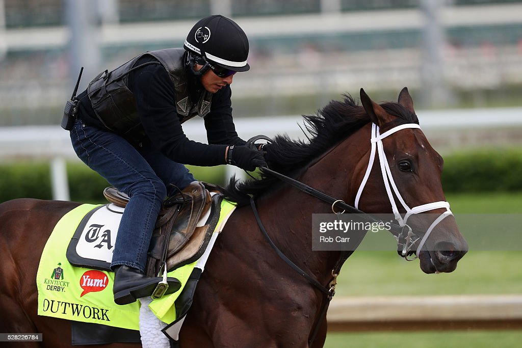 Outwork trains on the track for the Kentucky Derby at Churchill Downs on May 04, 2016 in Louisville, Kentucky.