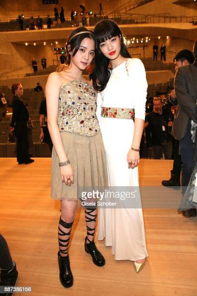 Ouyang Nana Nana OuYang and Nana Komatsu after the Chanel 'Trombinoscope' collection Metiers d'Art 2017/18 fashion show at Elbphilharmonie on...