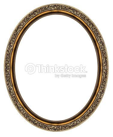 Oval Frame Isolated On White Stock Photo | Thinkstock