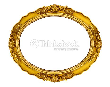 Monture ovale dor e photo thinkstock for Miroir bordure doree