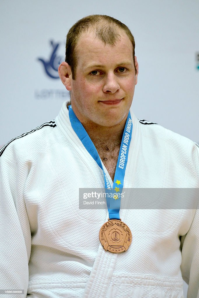 Over 100kgs bronze medallist, Chris Sherrington of Great Britain, during day 2 of the London British Open Judo Championships at the K2 on May 12, 2013 in Crawley, United Kingdom.