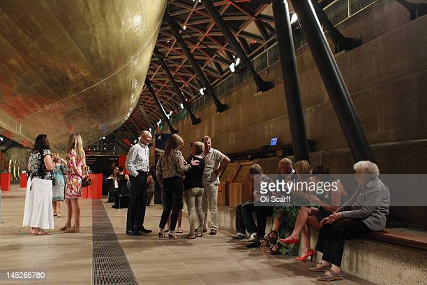 Over 170 descendants of Cutty Sark crew are united for the first time ever on board the historic clipper in Greenwich on May 24 2012 in London...