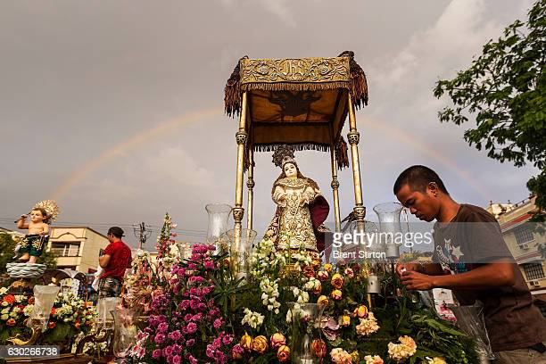 Over 200 hundred Santo Nino Coronas housing Santo Nino icons wait in Malolos Basilica for a religious procession in the streets of Malolos the...