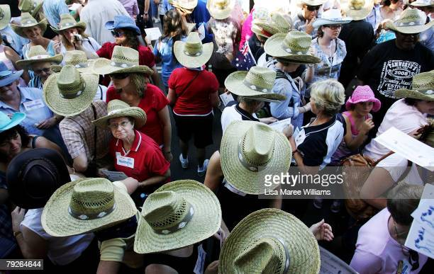 Over 2000 people participate in line dancing on Australia Day during the Tamworth Country Music Festival on January 26 2008 in Tamworth Australia...