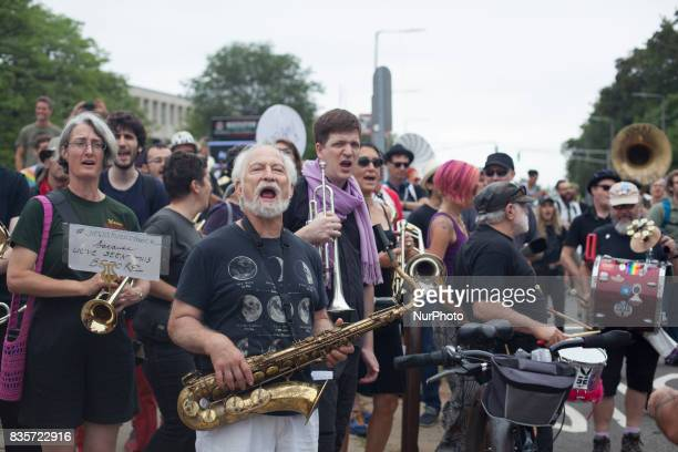 Over 20000 counter protesters came together on 19 August 2017 at The Common in Boston Massachusetts USA to protest against The Free Speech Rally a...
