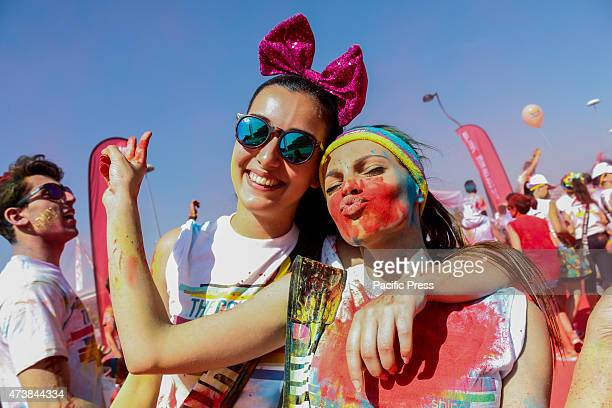 Over 25000 people who participated at the second edition of 'Color Run' along 5 km of running and walking and soaking in the colors and glitter for...