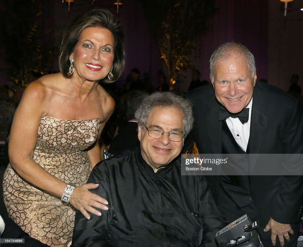 Over 550 guests attended a dinner in a tent behind Symphony Hall, to celebrate the 132nd Opening Night for the Boston Symphony Orchestra. Gala Chairs, Roberta and Stephen Weiner, with guests conductor Itzhak Perlman. The event raised 2 million dollars.