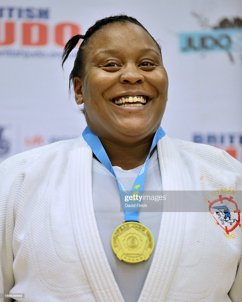 Over 78kgs gold medallist, Rebecca Ramanich of France, during day 2 of the London British Open Judo Championships at the K2 on May 12, 2013 in Crawley, United Kingdom.