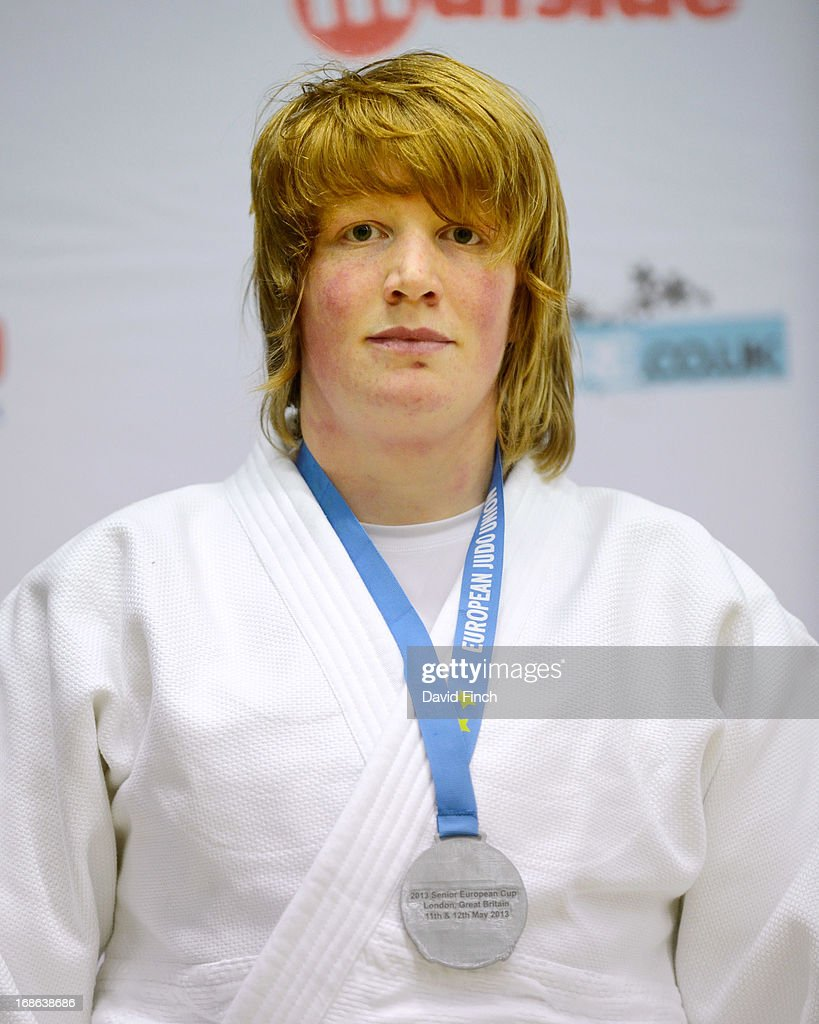 Over 78kgs silver medallist, Sarah Adlington of Great Britain, during day 2 of the London British Open Judo Championships at the K2 on May 12, 2013 in Crawley, United Kingdom.