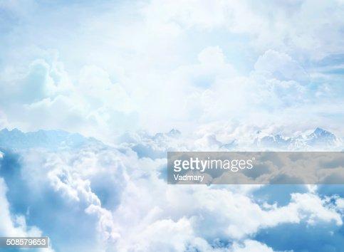 の雲に : ストックフォト