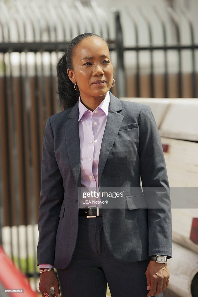 NOTICE -- 'Over The Line' Episode 13 -- Pictured: Sonja Sohn as Olivia --