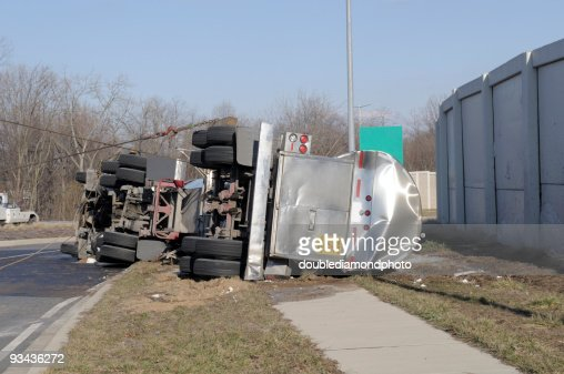 Over Turned Tanker Truck
