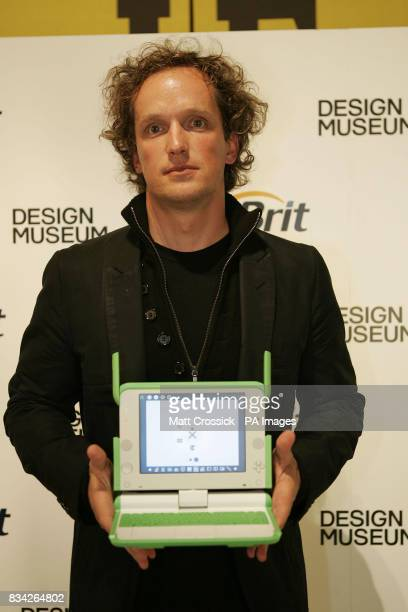 Overall Brit Insurance Design Award winner Yves Behar with his product One Laptop Per Child at the Brit Insurance Design Awards in the Design Museum...
