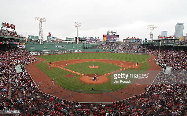Overall view of Fenway Park during a game between between the Boston Red Sox and the Baltimore Orioles at Fenway Park May 5 2012 in Boston...