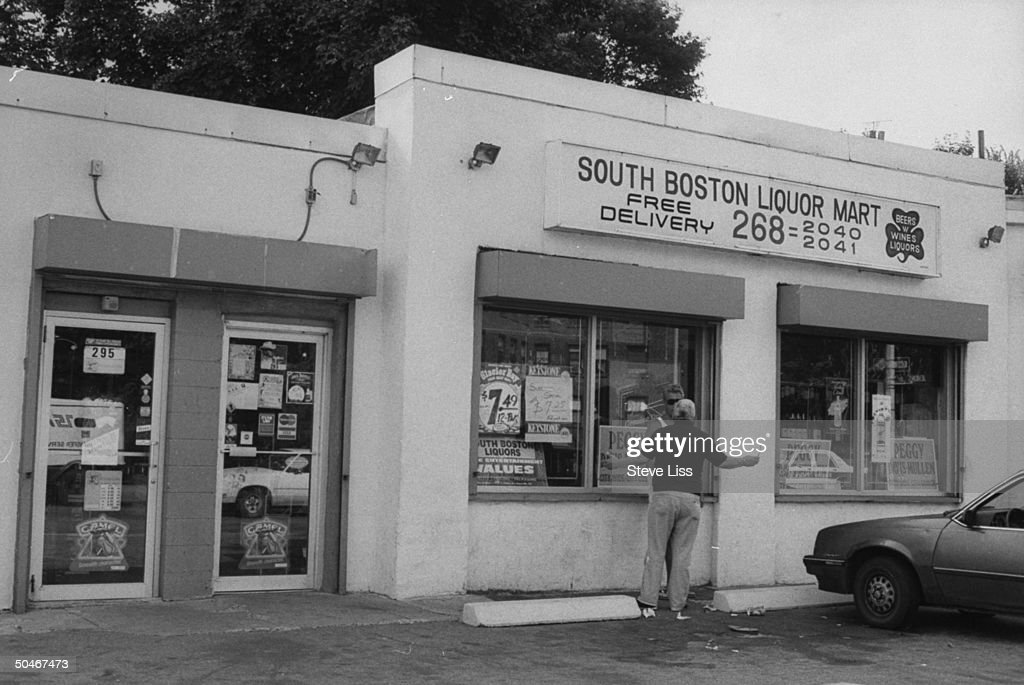 Overall view of South Boston Liquor Mart which is said to be secretly controlled by mobster James J Whitey Bulger was the location where his winning...