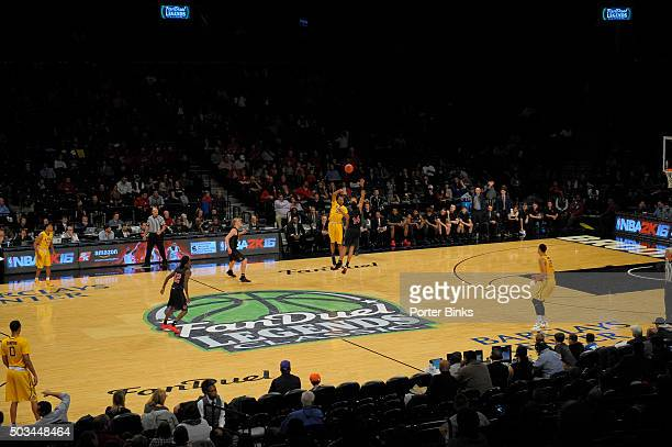 Overall view of the FanDuel logo at the Legends Classic played between the LSU Tigers and the North Carolina State Wolfpack at the Barclays Center on...