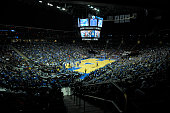 Overall view of the Prudential Center during a game between the Seton Hall Pirates and the Creighton Bluejays on January 9 2016 in Newark New Jersey