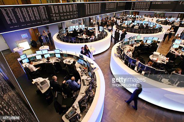 Overall view of the trading hall of German stock exchange operator Deutsche Boerse after it officially reopened after refurbished 26 February 2007 in...