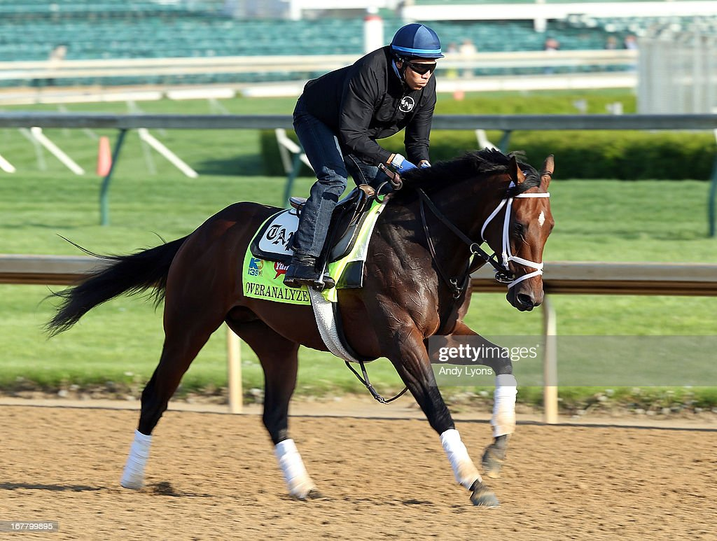 Overanalyze trained by Todd Pletcher runs on the track during morning training in preperation for the 2013 Kentucky Derby at Churchill Downs on April 30, 2013 in Louisville, Kentucky.