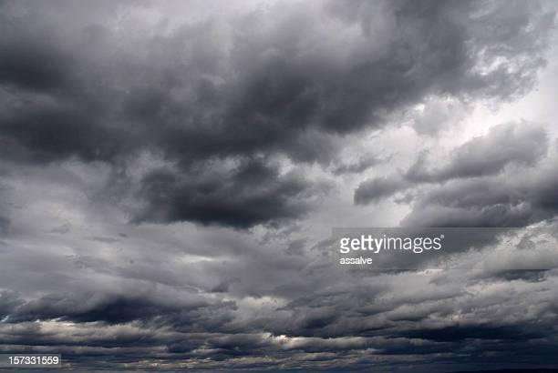 overcast sky with rain clouds