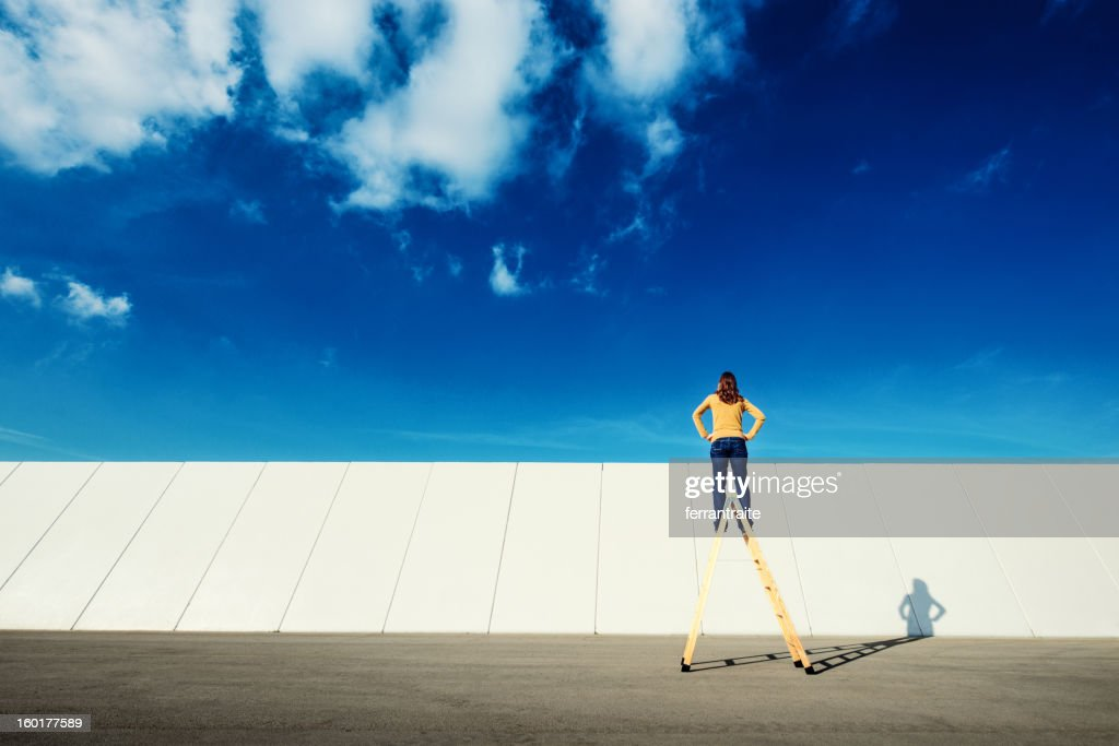 Overcome adversity : Stock Photo