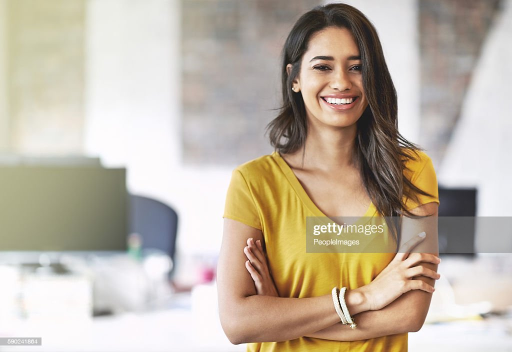 I overcome every obstacle with a smile on my face : Stock Photo