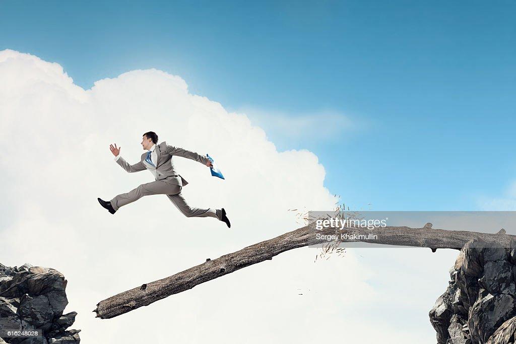 Overcome fear of failure . Mixed media : Foto de stock