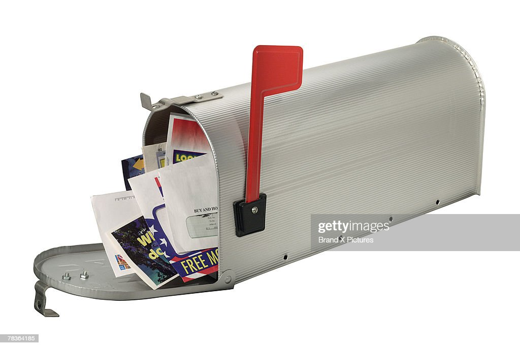 Overflowing mailbox : Stock Photo
