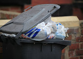 Overflowing refuse bins litter the streets in the Beeston area of Leeds on October 1 2009 in Leeds England A strike by bin men in Leeds is now...