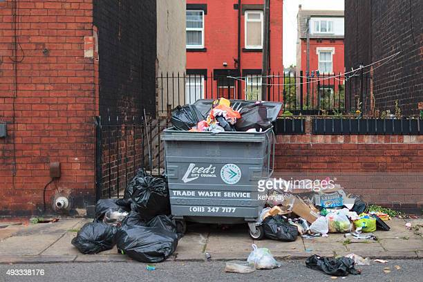 Overflowing rubbish in the street